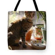 Sunny Morning Feather Tote Bag