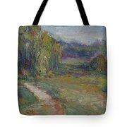 Sunny Morning In The Park -wetlands - Original - Textural Palette Knife Painting Tote Bag