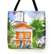 Sunny Morning On The City Square Tote Bag