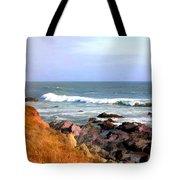 Sunny Ocean Shoreline Tote Bag