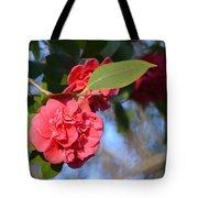 Sunny Red Camelias Tote Bag