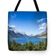 Sunny Saint Mary Lake Tote Bag