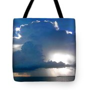 Sunny Waterfall Over The Bay Filtered Tote Bag