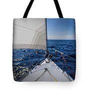 Sunny Yacht Bow Tote Bag