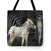 Sunny Zebra Tote Bag