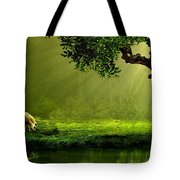 Sunrays In An Ireland Sheep Pasture  Tote Bag