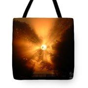 Sunrays Sunrise On Lake Oconee Tote Bag