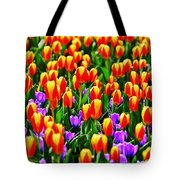 Sunrise And Lavendar Tote Bag