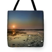 Sunrise And Water Lilies Tote Bag
