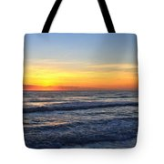 Sunrise And Waves Tote Bag
