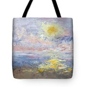 Sunrise As The Fog Blew In Tote Bag