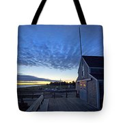Sunrise At Barnstable Yacht Club Tote Bag