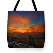 Sunrise At Bear Rocks In Dolly Sods Tote Bag by Dan Friend