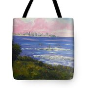 Sunrise At Burliegh Heads Tote Bag