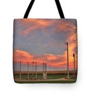 Sunrise At Field Of Dreams Tote Bag