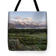 Sunrise At Grand Teton Tote Bag by Brian Harig