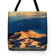 Sunrise At Great Sand Dunes Tote Bag