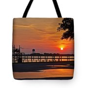 Sunrise At Lake Shelby Tote Bag