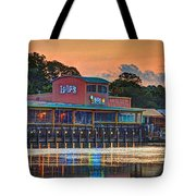 Sunrise At Lulu's Tote Bag by Michael Thomas