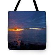 Sunrise At Otter Cliffs Tote Bag