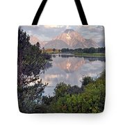 Sunrise At Oxbow Bend 3 Tote Bag by Marty Koch