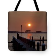 Sunrise At Piney Point Maryland Tote Bag
