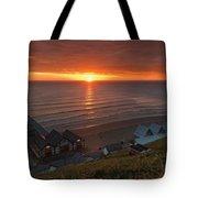 Sunrise At Saltburn Tote Bag