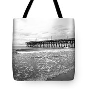 Sunrise At Surfside Bw Tote Bag