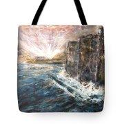 Sunrise At Tal-gurdan Cliffs Tote Bag by Marco Macelli