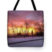 Sunrise At The Barn Tote Bag