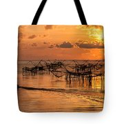 Sunrise At The Fishing Village Tote Bag