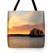 Sunrise At The Lake Tote Bag