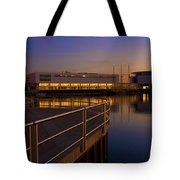 Sunrise At The Lakefront Tote Bag