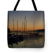 Sunrise At The Marina - Lake Nockamixon State Park Tote Bag