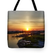 Sunrise At Two Mile Inlet - Wildwood Crest Tote Bag
