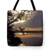 Sunrise At Yellowstone Lake Tote Bag