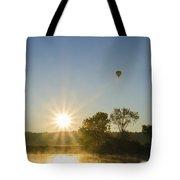 Sunrise Balloon Ride Over Lake Nockamixon Tote Bag