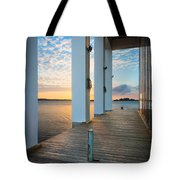 Sunrise Boardwalk Tote Bag