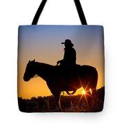 Sunrise Cowboy Tote Bag