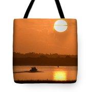 Sunrise Fishing Tote Bag
