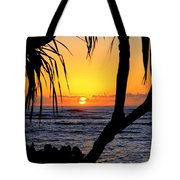 Sunrise Fuji Beach Kauai Tote Bag