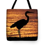Sunrise Heron Tote Bag