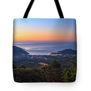 sunrise in Elba island Tote Bag