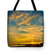 Sunrise In Manaure Colombia Tote Bag
