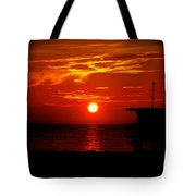 Sunrise In Miami Beach Tote Bag