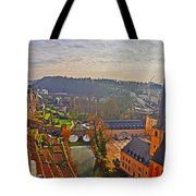 Sunrise In Old Town Tote Bag