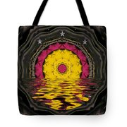 Sunrise In Paradise Pop Art Tote Bag