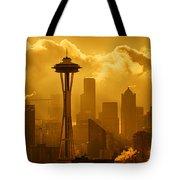 Sunrise In Seattle Tote Bag