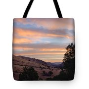 Sunrise - Indian Lodge Tote Bag by Allen Sheffield