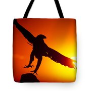 Sunrise Liftoff Golden Eagle Threatened Species Tote Bag